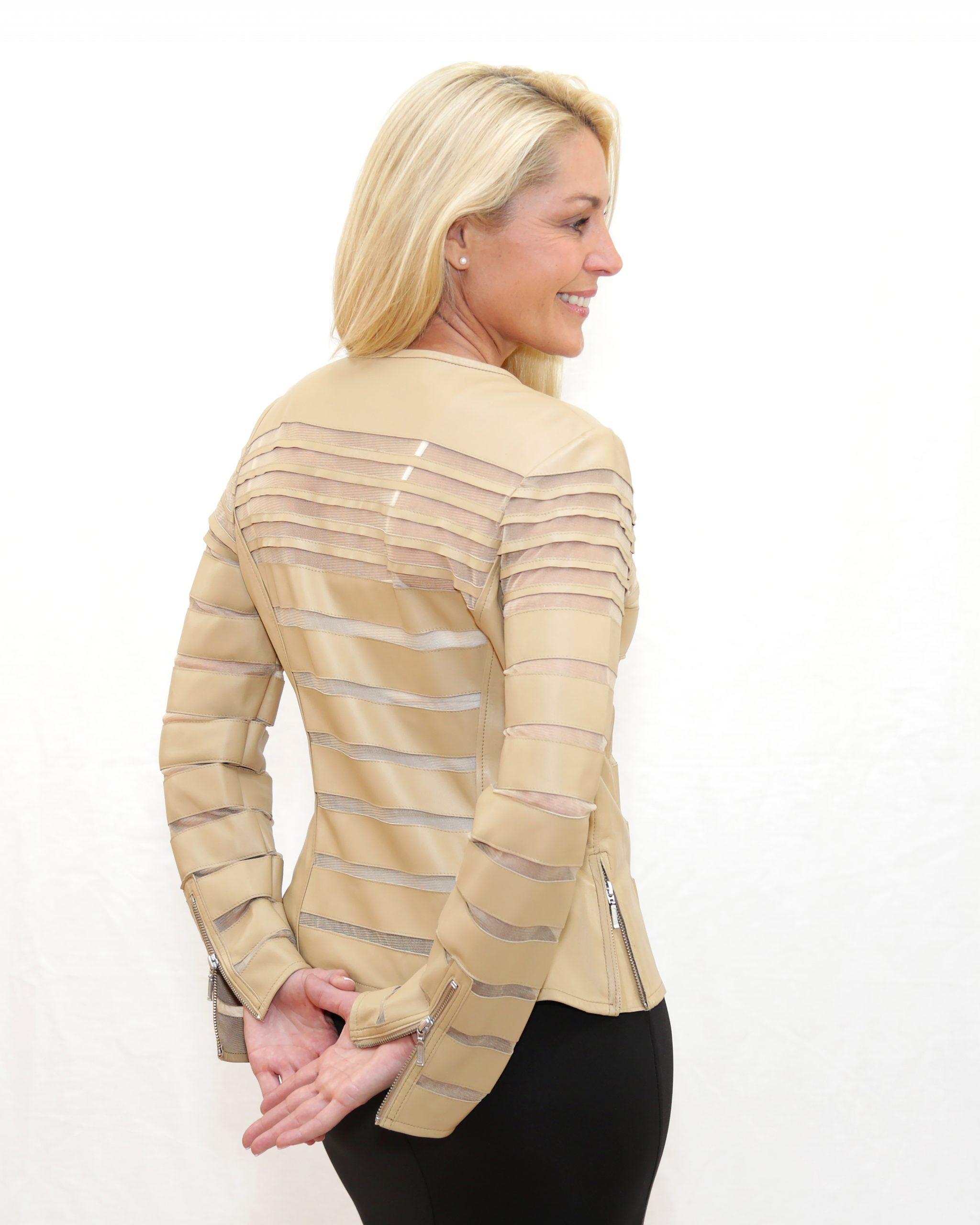 Beige Long Sleeve Short Jacket