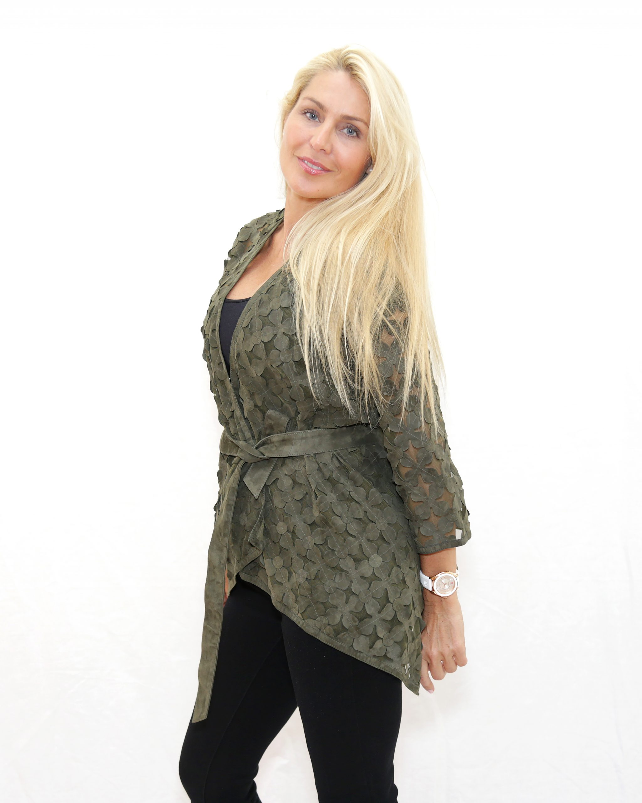 Army Green Suede Wrap